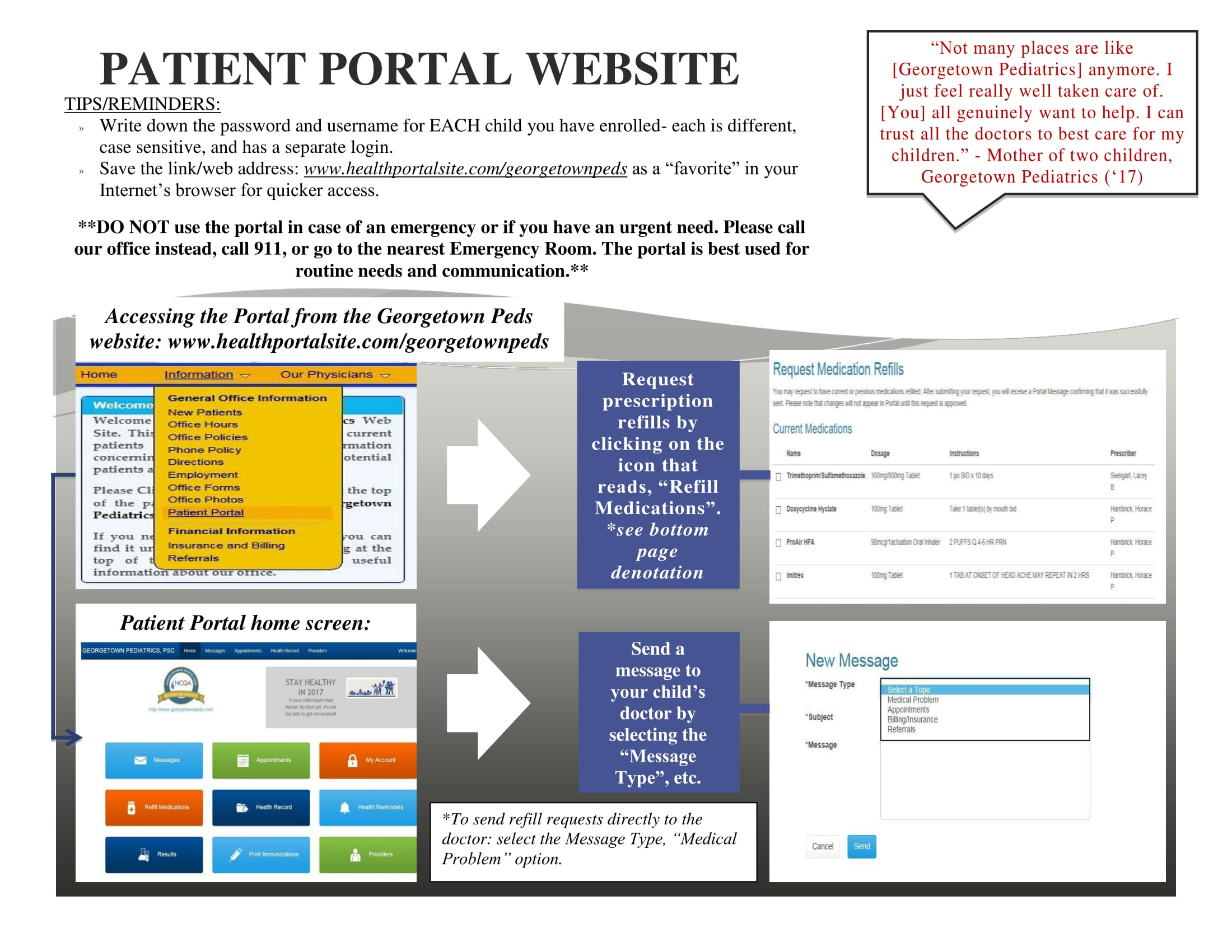 patient portal pamphlet- BACK